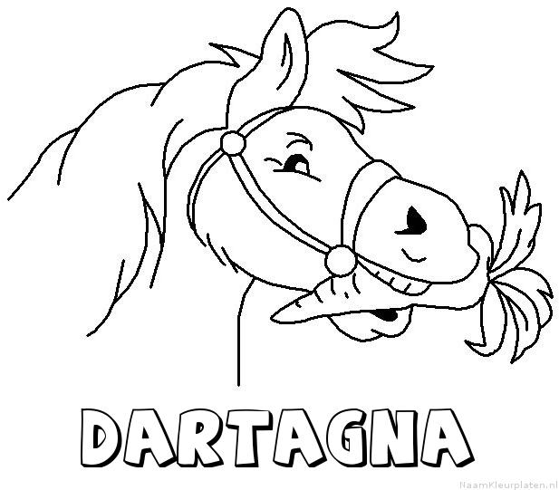Dartagna paard van sinterklaas kleurplaat