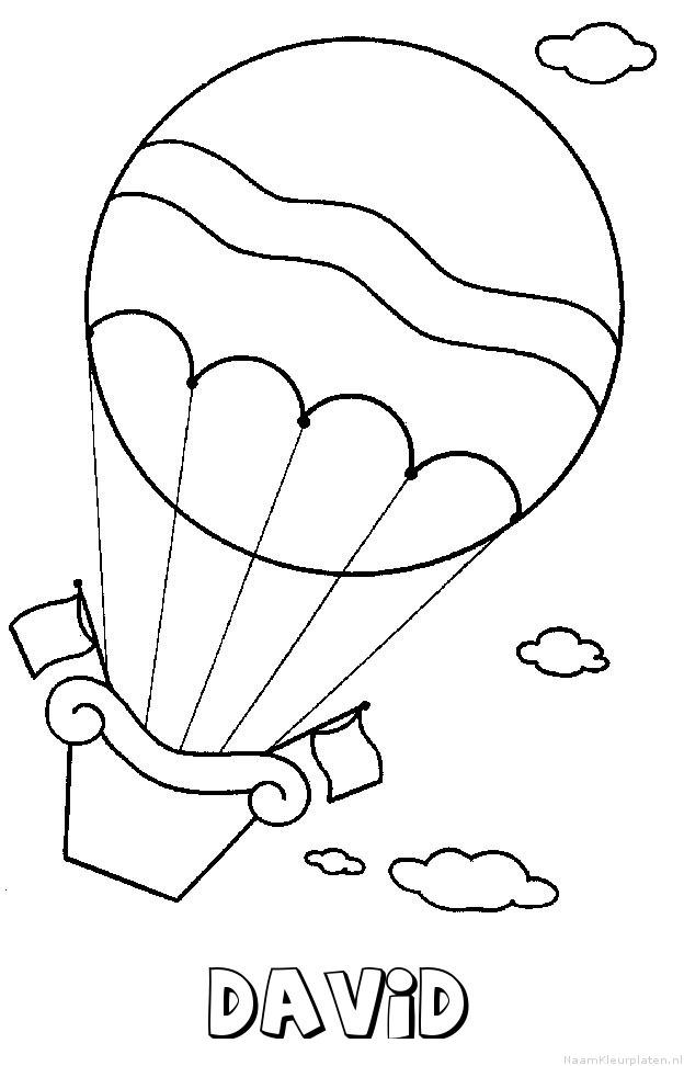 David luchtballon kleurplaat