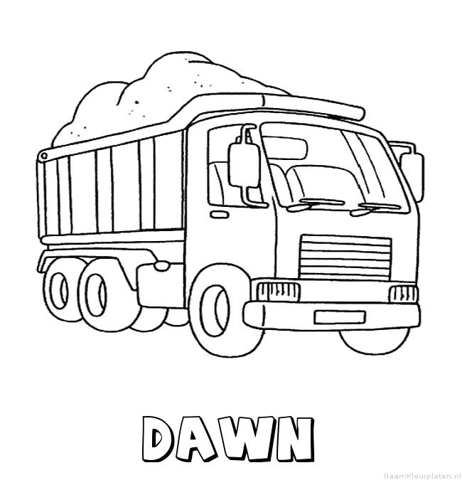 Dawn vrachtwagen kleurplaat