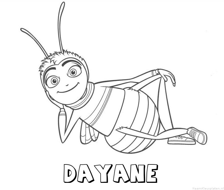 Dayane bee movie kleurplaat