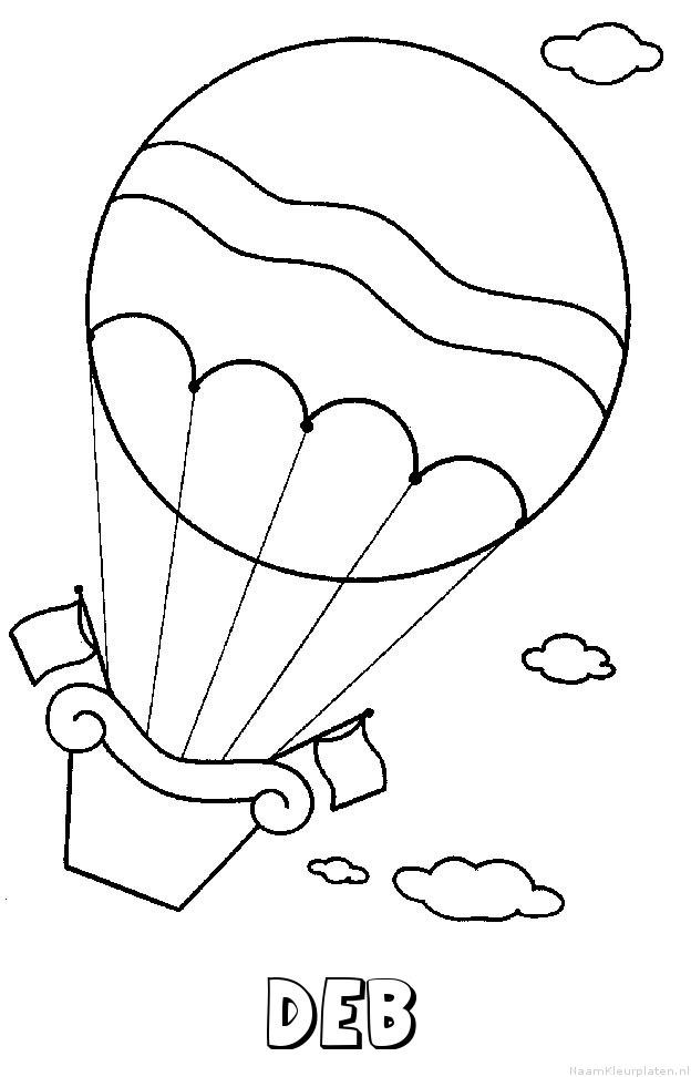 Deb luchtballon kleurplaat