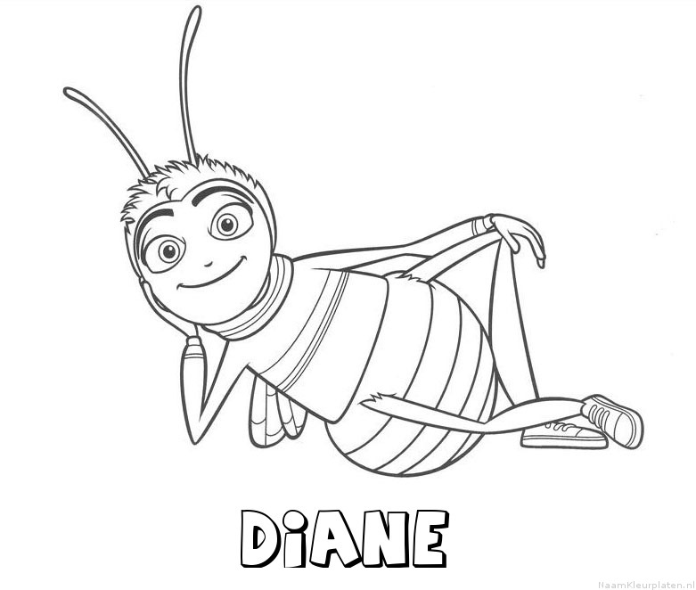 Diane bee movie kleurplaat