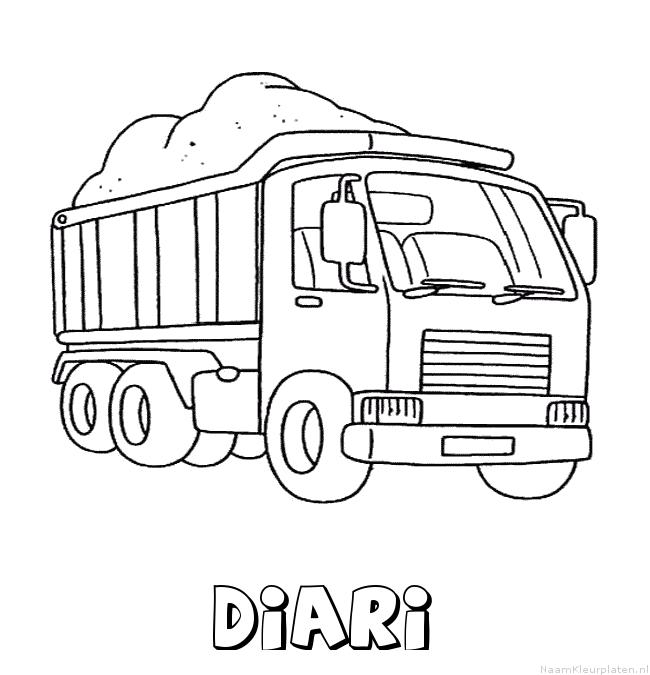 Diari vrachtwagen kleurplaat