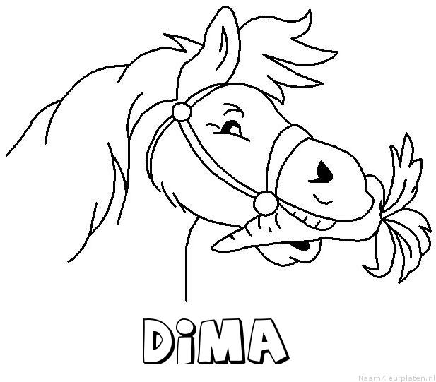 Dima paard van sinterklaas kleurplaat