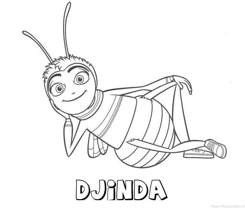 Djinda bee movie kleurplaat