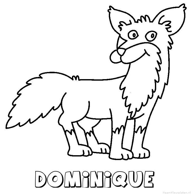 Dominique vos kleurplaat