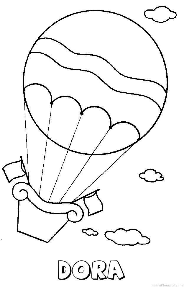 Dora luchtballon kleurplaat