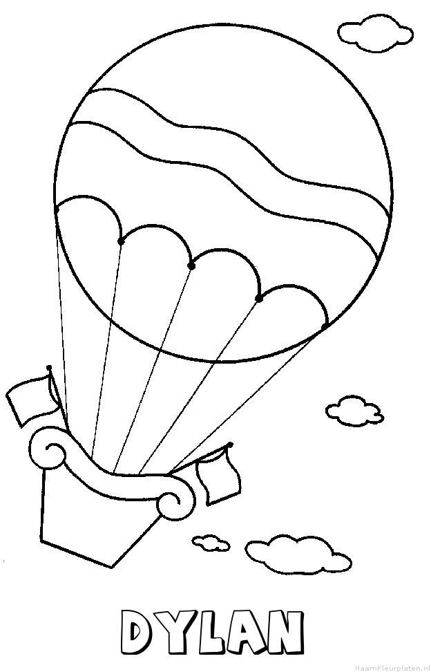 Dylan luchtballon kleurplaat