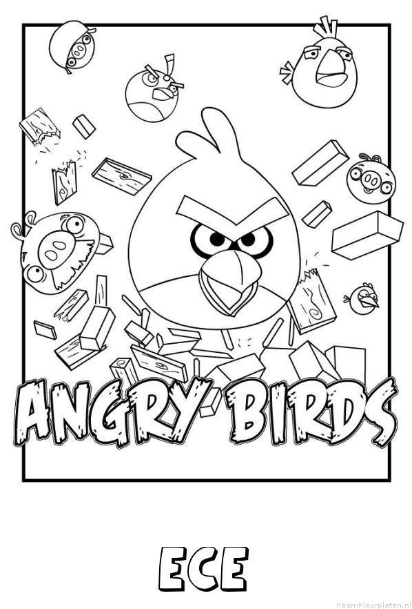 Ece angry birds kleurplaat