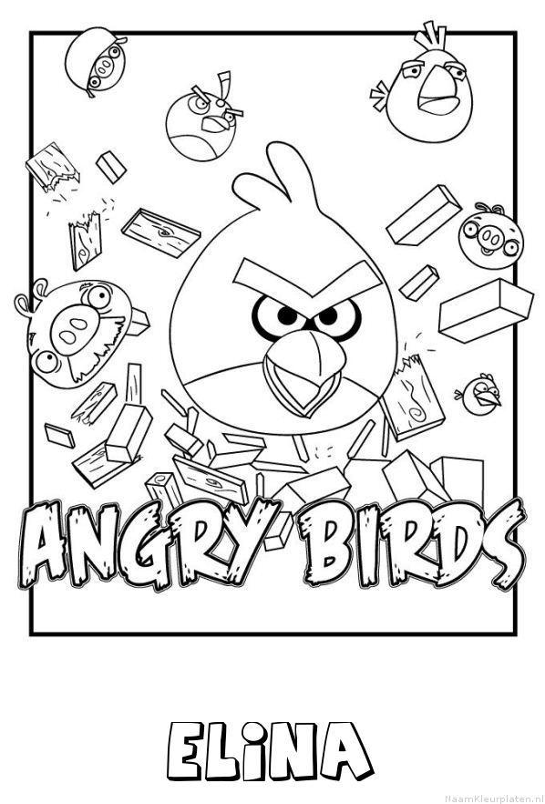 Elina angry birds kleurplaat