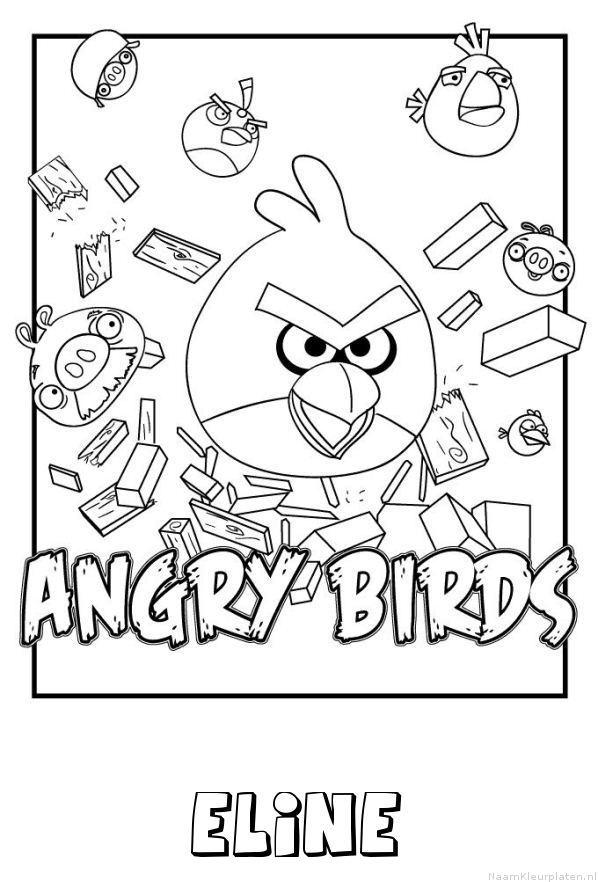 Eline angry birds kleurplaat