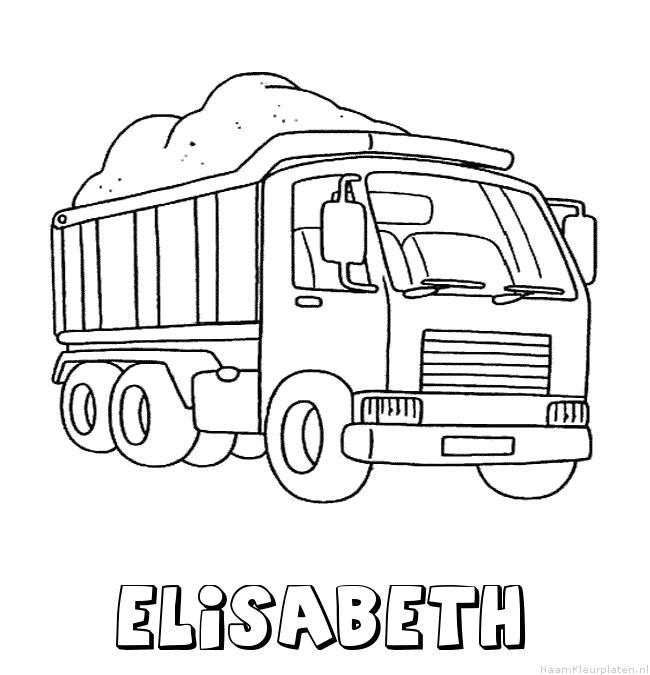 Elisabeth vrachtwagen kleurplaat