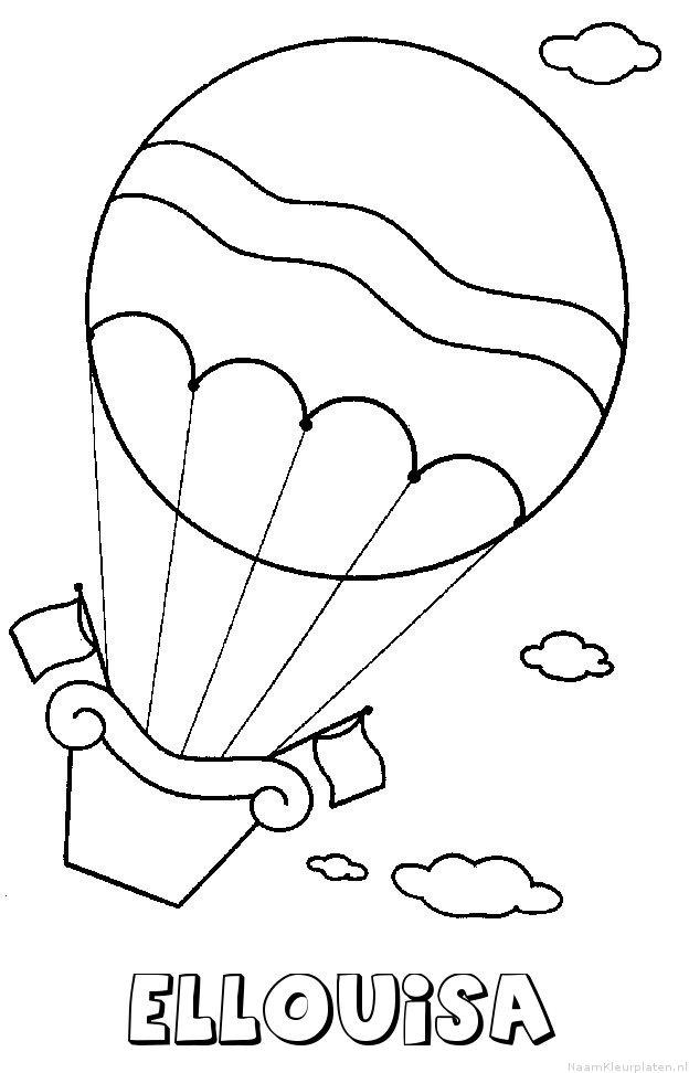 Ellouisa luchtballon kleurplaat