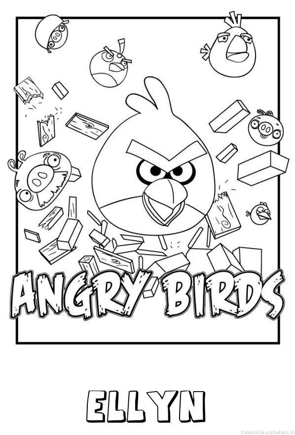 Ellyn angry birds kleurplaat