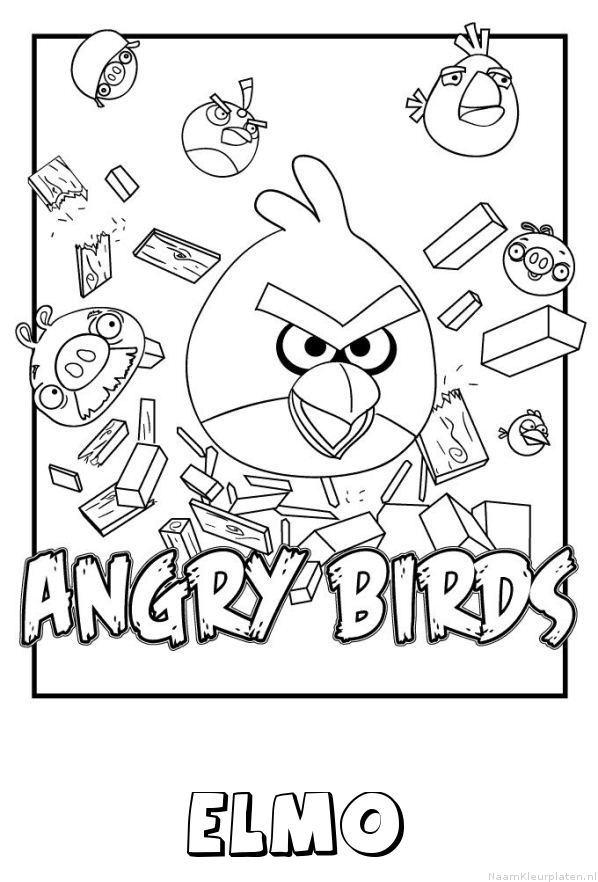 Elmo angry birds kleurplaat