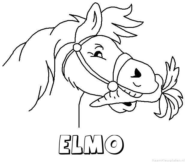 Elmo paard van sinterklaas kleurplaat