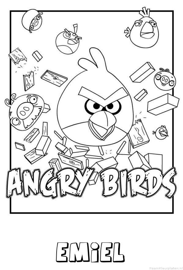 Emiel angry birds kleurplaat