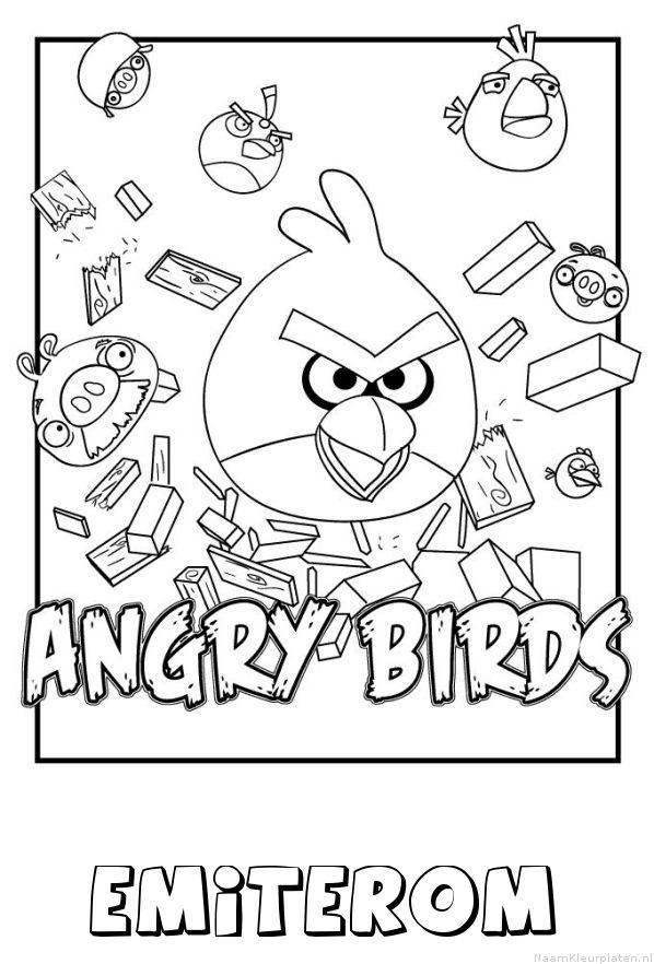 Emiterom angry birds kleurplaat