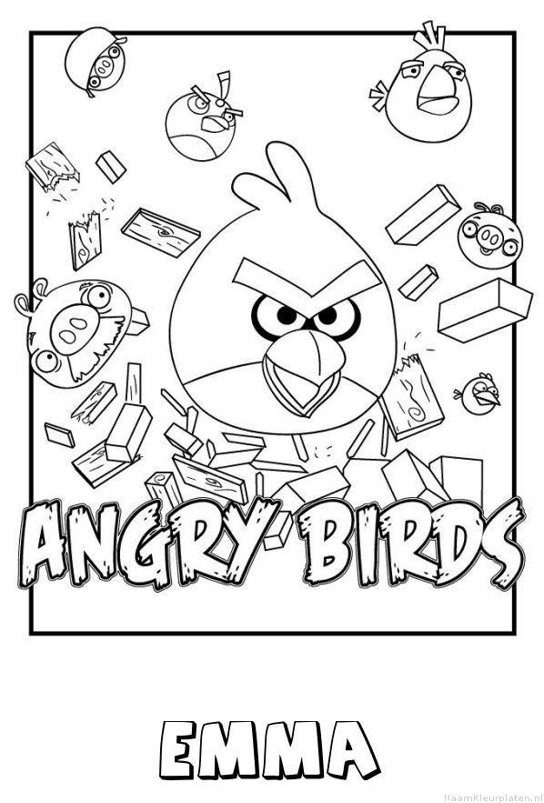 Emma angry birds kleurplaat