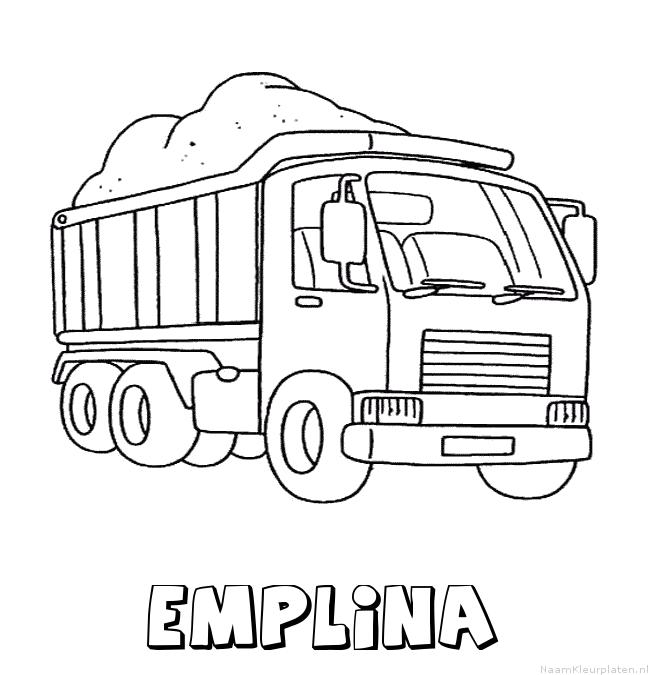 Emplina vrachtwagen kleurplaat