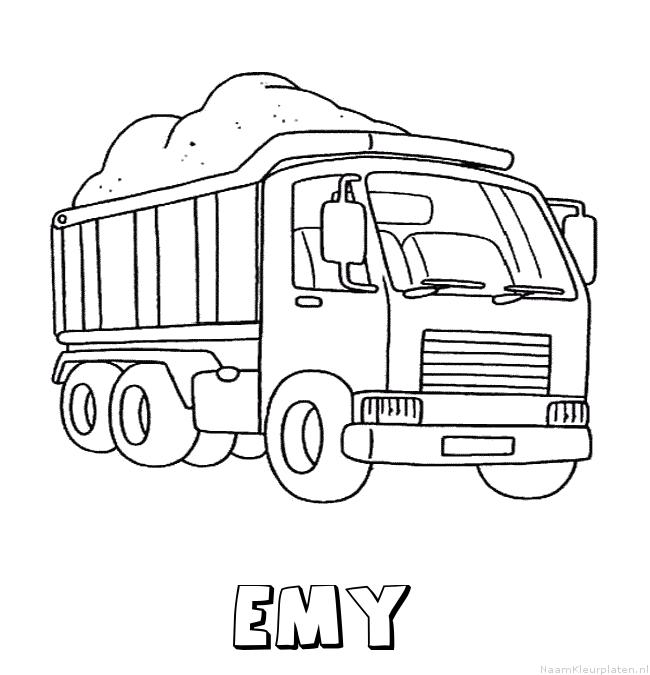 Emy vrachtwagen kleurplaat