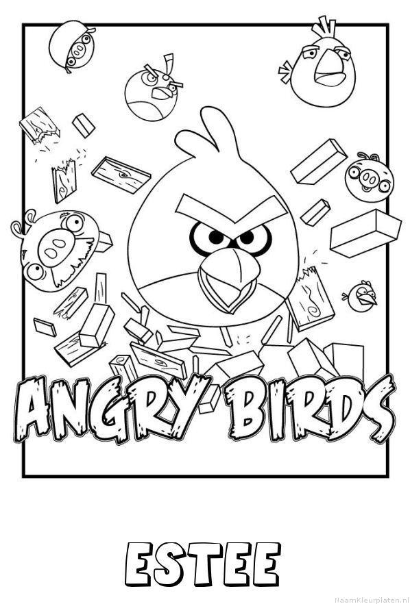 Estee angry birds kleurplaat