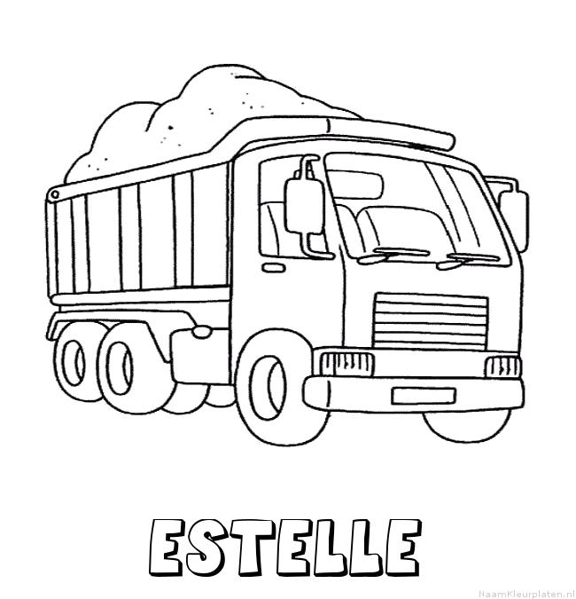 Estelle vrachtwagen kleurplaat