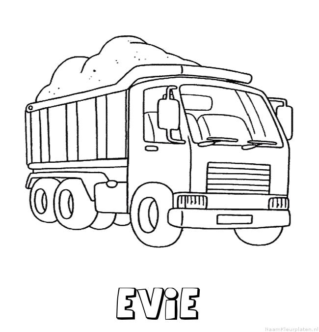 Evie vrachtwagen kleurplaat