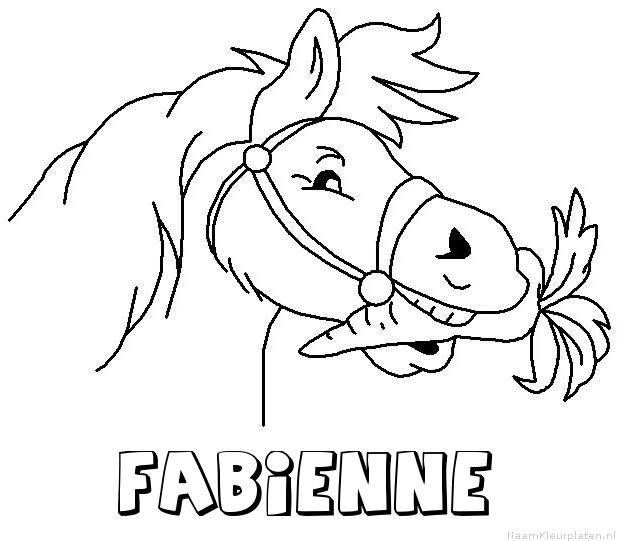 Fabienne paard van sinterklaas kleurplaat