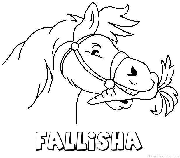 Fallisha paard van sinterklaas kleurplaat