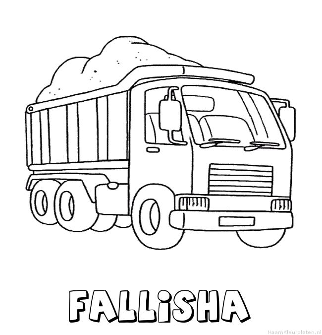 Fallisha vrachtwagen kleurplaat