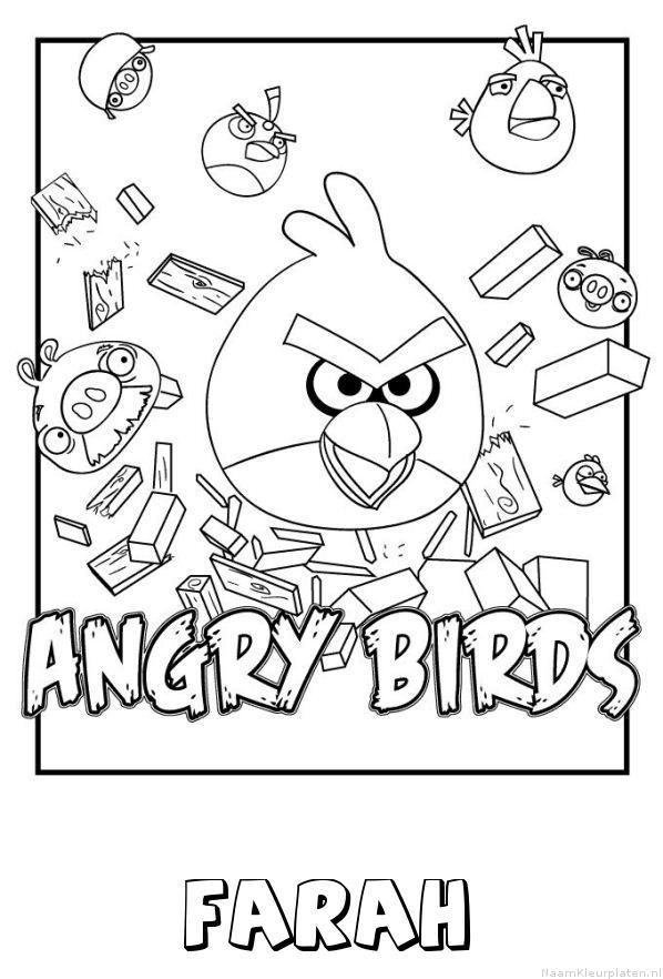 Farah angry birds kleurplaat