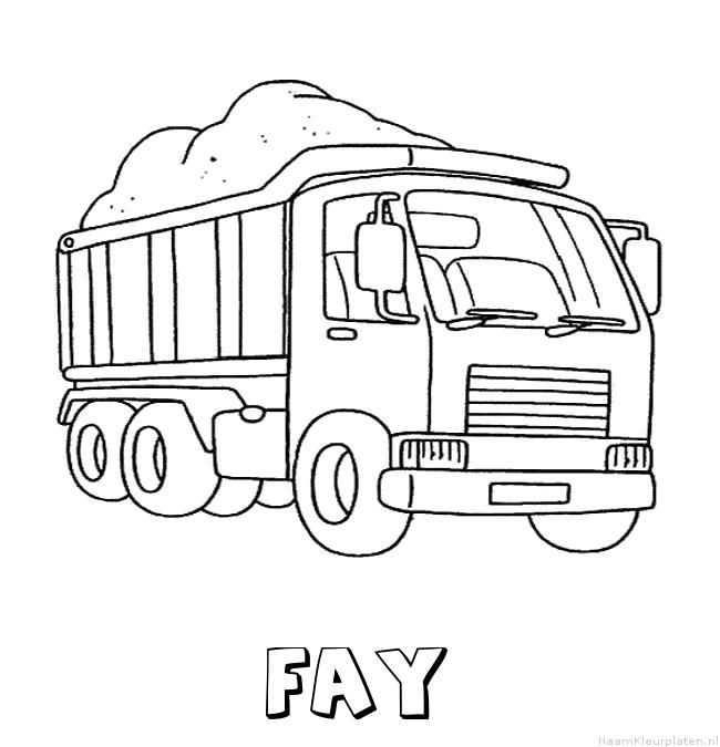 Fay vrachtwagen kleurplaat
