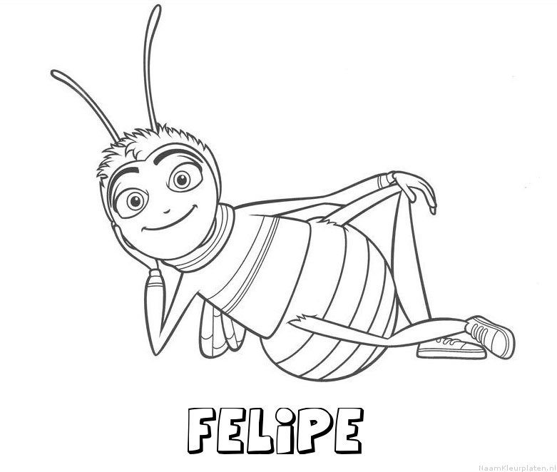 Felipe bee movie kleurplaat