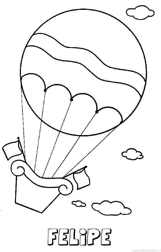 Felipe luchtballon kleurplaat