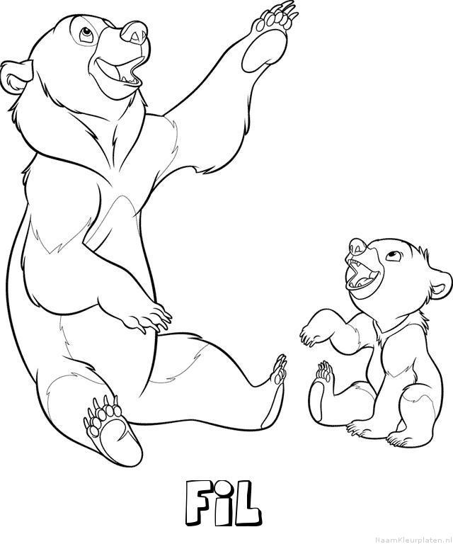 Fil brother bear kleurplaat