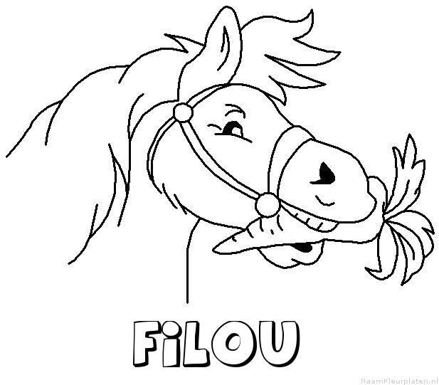 Filou paard van sinterklaas kleurplaat