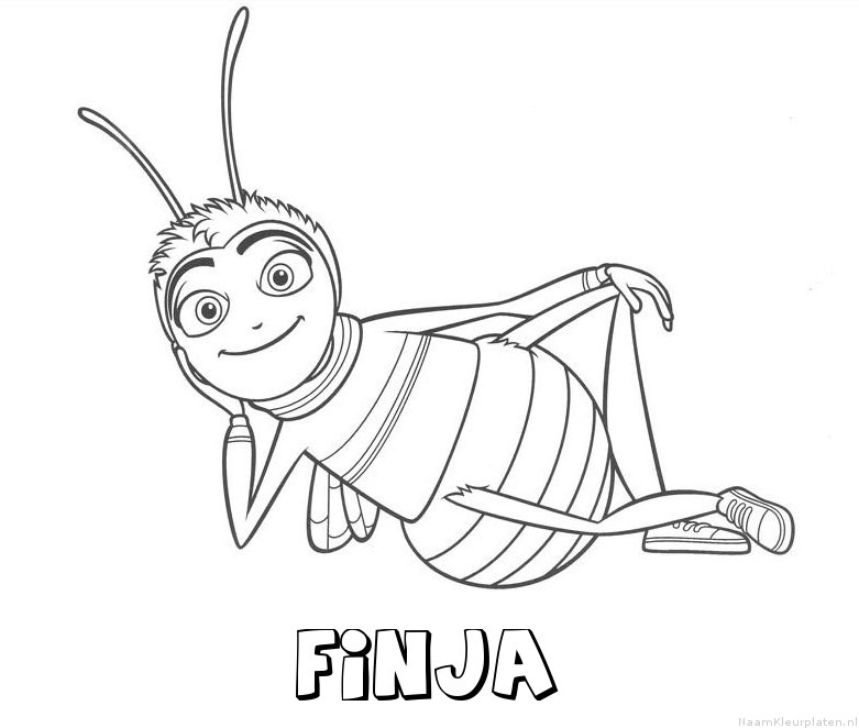 Finja bee movie kleurplaat