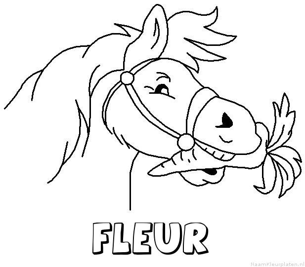 Fleur paard van sinterklaas kleurplaat