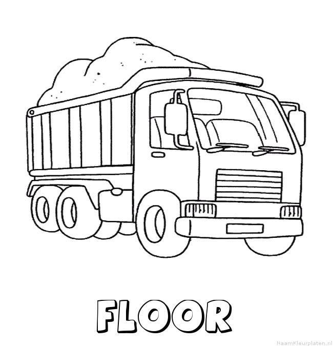 Floor vrachtwagen kleurplaat