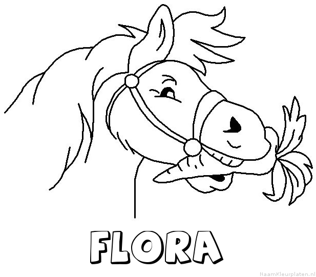 Flora paard van sinterklaas kleurplaat