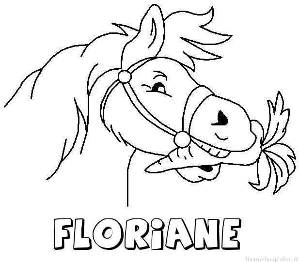 Floriane paard van sinterklaas kleurplaat