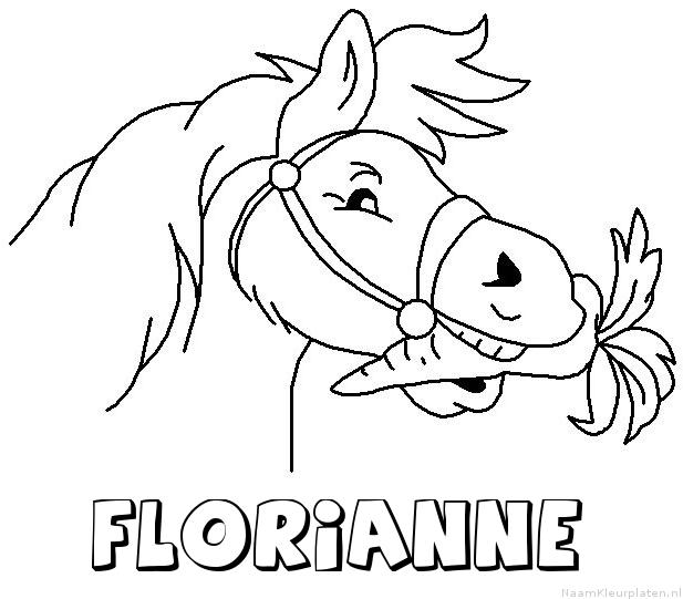 Florianne paard van sinterklaas kleurplaat