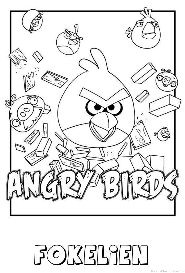 Fokelien angry birds kleurplaat