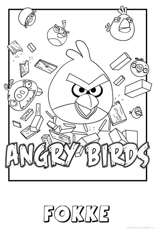 Fokke angry birds kleurplaat