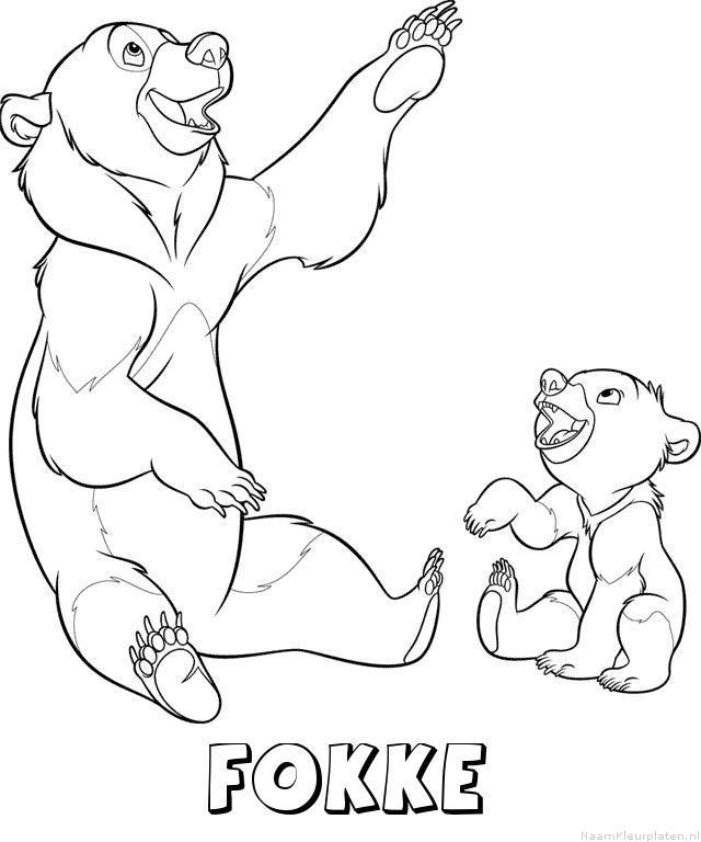 Fokke brother bear kleurplaat
