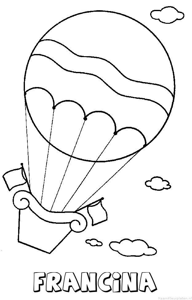 Francina luchtballon kleurplaat