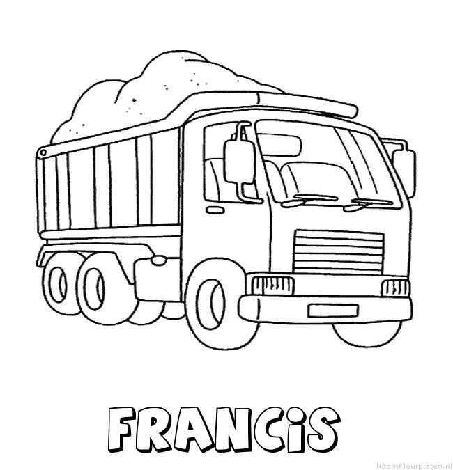 Francis vrachtwagen kleurplaat