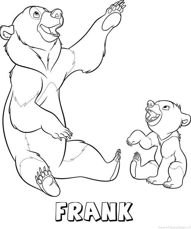 Frank brother bear kleurplaat