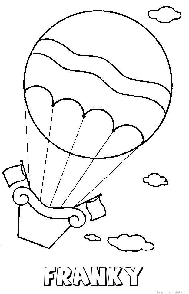 Franky luchtballon kleurplaat